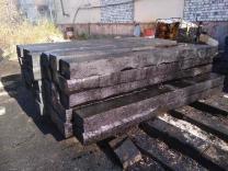 Деревянная шпала пропитанная