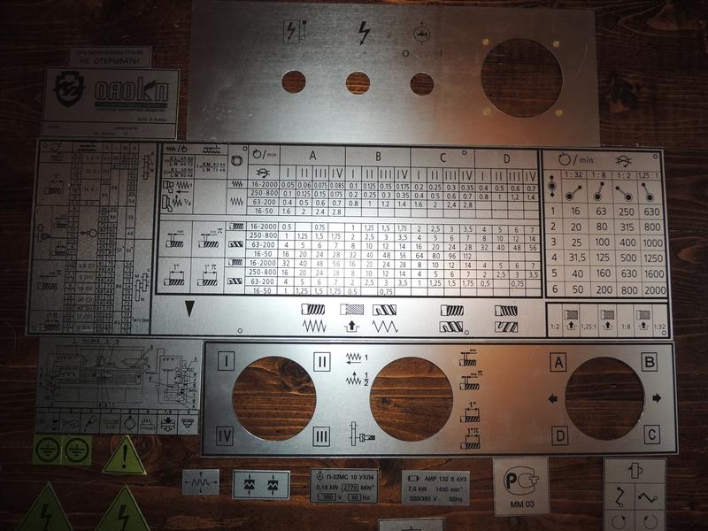 Разработка и производство фирменных табличек любой сложности. Изготовление методом травления.   фото 1 из 1