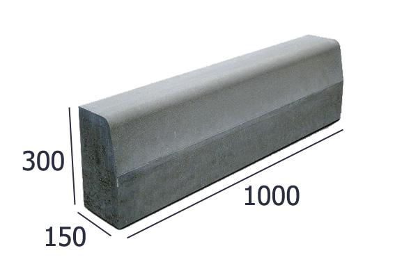 Бордюрные камни тротуарная плитка вибропрессованная  | фото 1 из 4