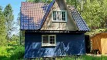 Два очень уютных домика с баней на живописном берегу р.Великой, 50 соток земли