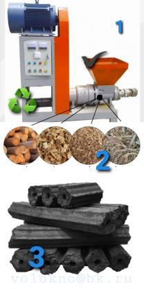 оборудование Древесный уголь в брикетах