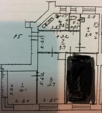Продается 2-е комнаты выделенная 26 кв. м в 3-х ком. кв   фото 3 из 6