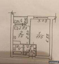 Продается 1 комнатная квартира в центре города   фото 3 из 5