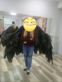 Черные крылья ангела напрокат для фото и видеосъемки в Самаре | фото 6 из 6