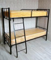Кровати на металлокаркасе, двухъярусные, односпальные для хостелов, гостиниц, рабочих | фото 3 из 6
