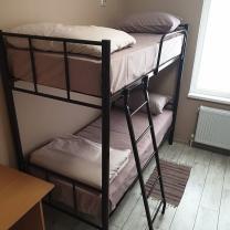 Кровати на металлокаркасе, двухъярусные, односпальные для хостелов, гостиниц, рабочих | фото 6 из 6