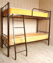 Кровати на металлокаркасе, двухъярусные, односпальные для хостелов, гостиниц, рабочих | фото 2 из 6