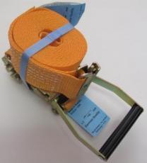 Стяжной ремень - 5 м./50мм с рельсовым захватом (ласточка) | фото 2 из 3