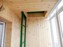 Внутренняя отделка балконов и лоджий в Красноярске.   фото 6 из 6