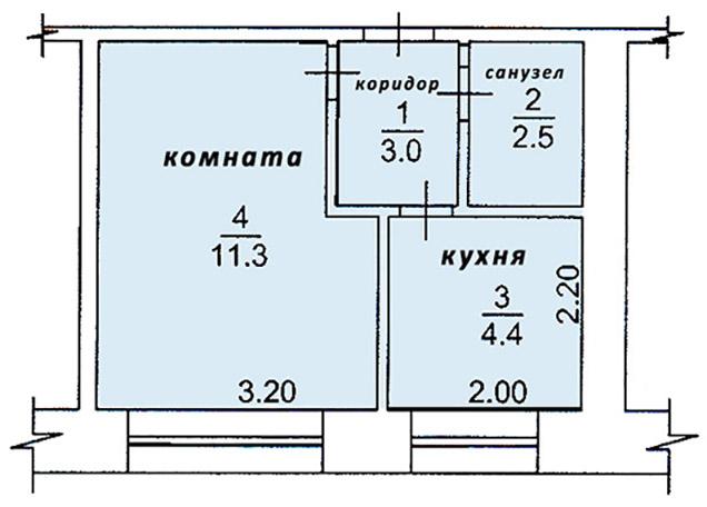 Продам 1-комнатную квартиру 22 м², этаж 2/5 | фото 1 из 4