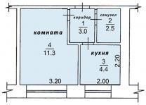 Продам 1-комнатную квартиру 22 м², этаж 2/5