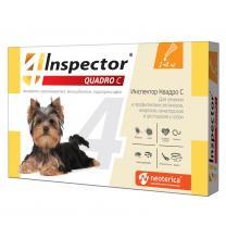Капли Инспектор Quadro для собак 1-4кг