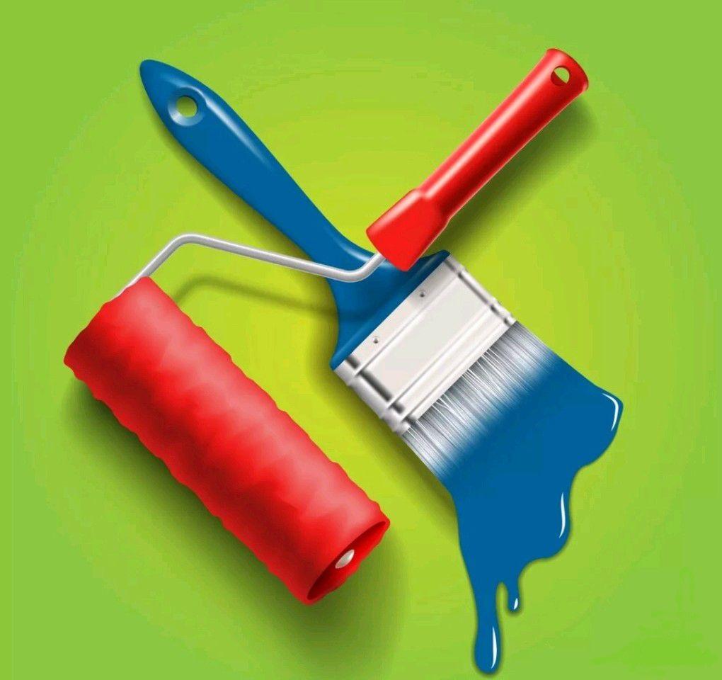 Поклейка обоев покраска шпатлевка  | фото 1 из 2