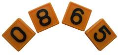 Номерной блок для ремней (от 0 до 9 желтый) КРС | фото 1 из 2