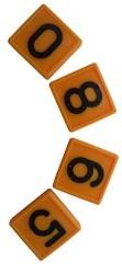 Номерной блок для ремней (от 0 до 9 желтый) КРС | фото 1 из 1