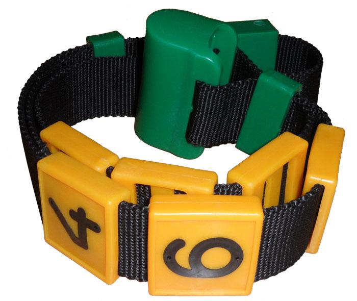 Номерной блок для ремней (от 0 до 9 желтый) КРС | фото 1 из 3